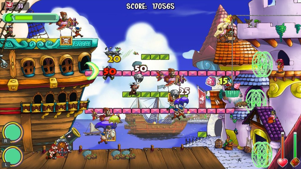 The later levels feature a wide variety of terrible gnomes and obstacles.